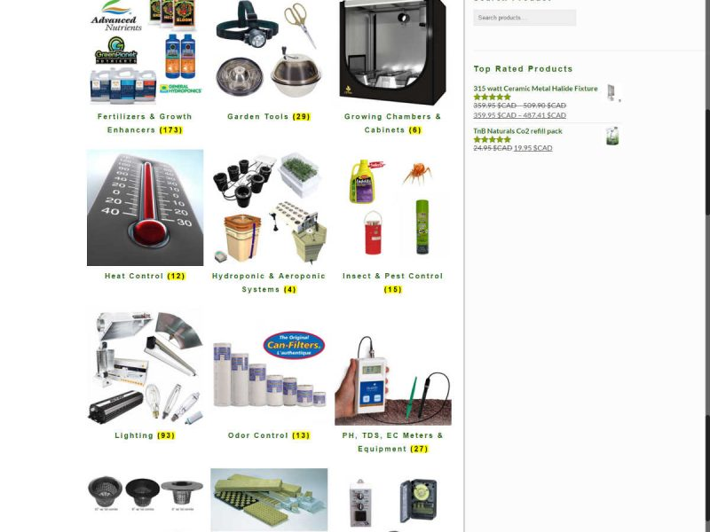 New Products by Category Page - Progressive Growth