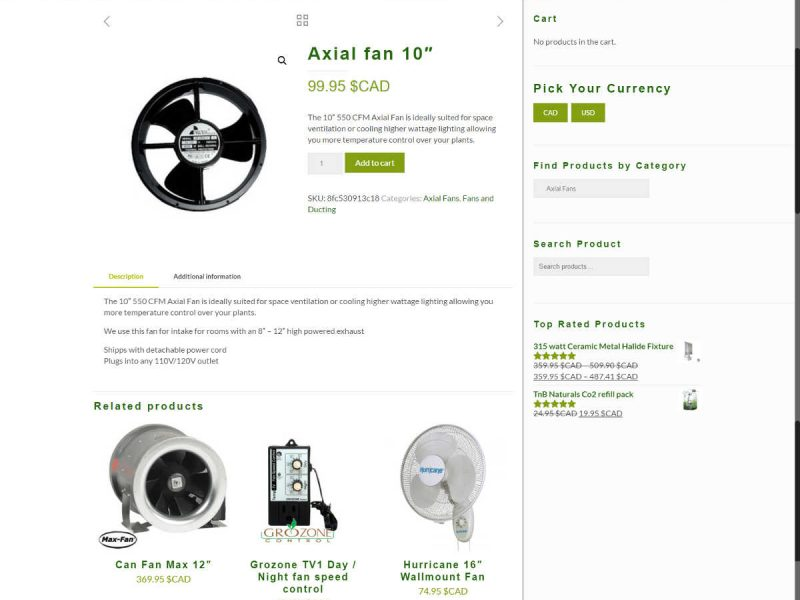 New Single Product Page - Progressive Grwoth